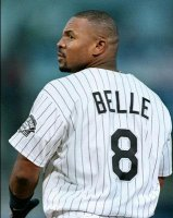 Albert wearing number 8 for the White Sox
